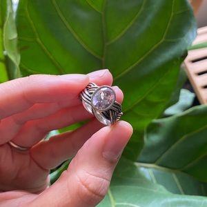 *RARE* Pandora Tied Together Amethyst Ring Size 7